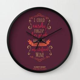 Jane Austen's Elizabeth Bennet Wall Clock