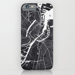 Copenhagen City Map iPhone Case