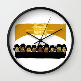 UNUSUAL SUSPECTS : Fortunate & Glorious Wall Clock