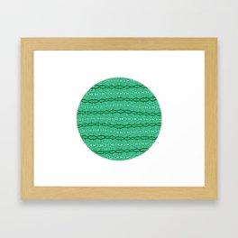 Green Tribal Lace Sphere Framed Art Print