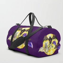 Three Bats in Watercolor Duffle Bag