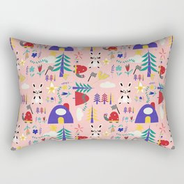 Tortoise and the Hare is one of Aesop Fables pink Rectangular Pillow