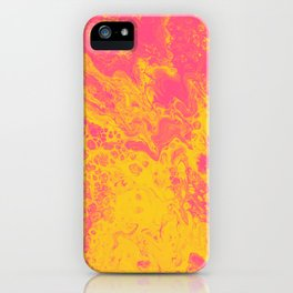 Pink and Yellow Marble - An Abstract Piece iPhone Case