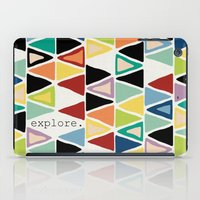 explore iPad Cases featuring explore. by Sharon Turner