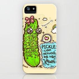 Kawaii Pickles! iPhone Case