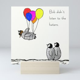 To be a Flying Penguin Mini Art Print