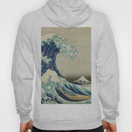 The Classic Japanese Great Wave off Kanagawa Print by Hokusai Hoody