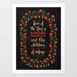 Proverbs 14:26 Art Print