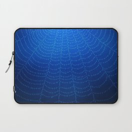 Blue Spider Web Laptop Sleeve