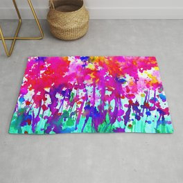 A Walk Among The Flowers 1i by Kathy Morton Stanion Rug