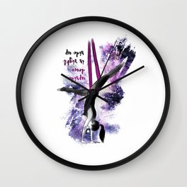 flying colors 04 // aerial. yoga. love. Wall Clock