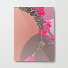 stephanie - bright abstract in shades of pink blush fuschia pale geranium grey Metal Print