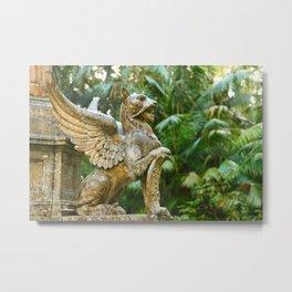 Winged lion Metal Print