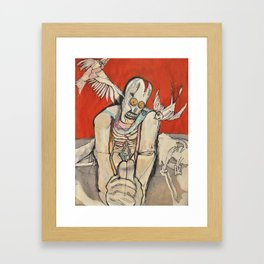 Praying to Singing Songs Framed Art Print