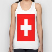 switzerland Tank Tops featuring Flag of Switzerland by Neville Hawkins