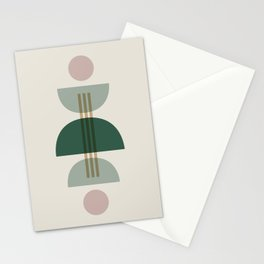 Emerald Abstract Half Moon 1 Stationery Cards