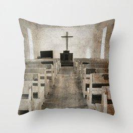 Inside Church Throw Pillow