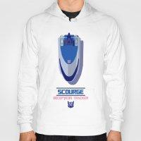 transformers Hoodies featuring TRANSFORMERS - Scourage: Decepticon Tracker by komatosekosmonaut