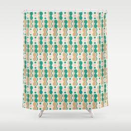 Uende Cactus - Geometric and bold retro shapes Shower Curtain