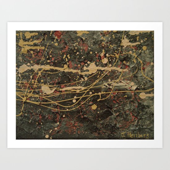 Universe Splatter Art Print