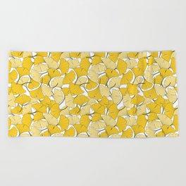 ginkgo leaves (yellow) Beach Towel