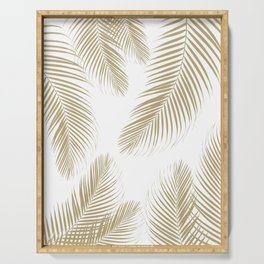 Palm Leaves - Gold Cali Vibes #3 #tropical #decor #art #society6 Serving Tray