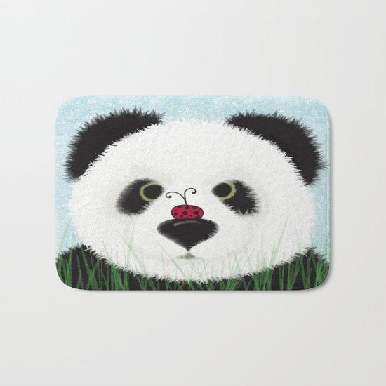 The Panda Bear & His Visitor Bath Mat