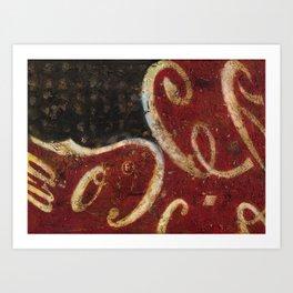 Ameri-Cola (oil on canvas) Art Print