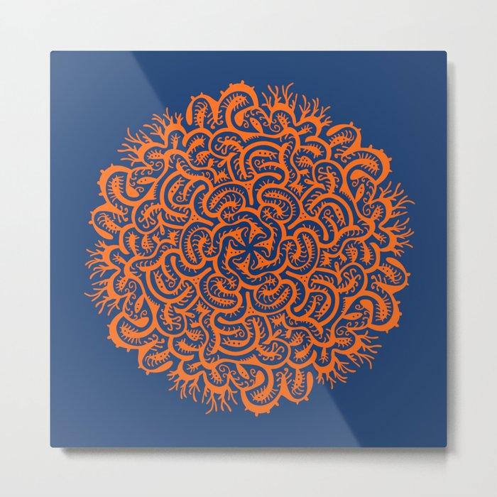 Bugs Maze (orange) Metal Print