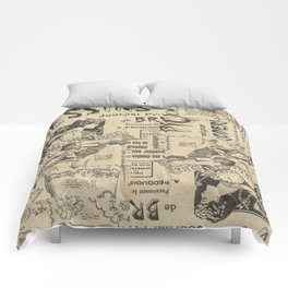 Vintage Art Nouveau collage Comforters