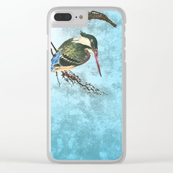 Watching the river Clear iPhone Case