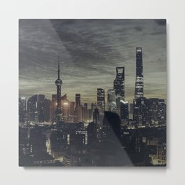 city at the night Metal Print
