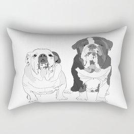 English Bulldog Brothers Rectangular Pillow
