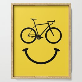 Bicycle Smiley Face Serving Tray