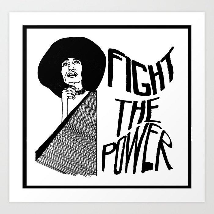 Fight the Power: Angela Davis Art Print