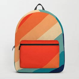 Classic Colorful Retro 70s Vintage Style Stripes - Farida Backpack