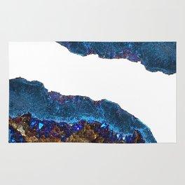 Agate metallic blue & gold Rug