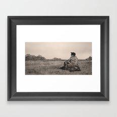 OLD WICKER Framed Art Print