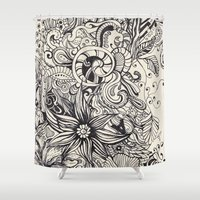 doodle Shower Curtains featuring Doodle by Antria Sofroniou