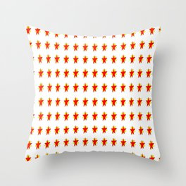 red stars-sky,light,rays,hope,pointed,mystical,estrella,nature,spangled,girly,gentle,star,sun Throw Pillow