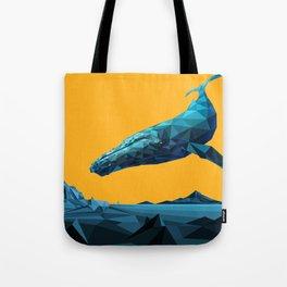 Leviathan (Blue - Orange) Tote Bag