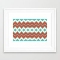ikat Framed Art Prints featuring Ikat by Deepti Munshaw