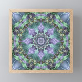 Ribbon Mandala in Blue and Purple Framed Mini Art Print