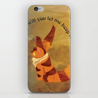 nausicaa iPhone & iPod Skins featuring Teto the Fox-Squirrel by HSuits