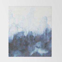 Indigo watercolor 2 Throw Blanket
