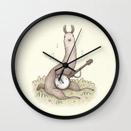 Banjo Llama Wall Clock