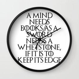A Mind Needs A Book... Wall Clock