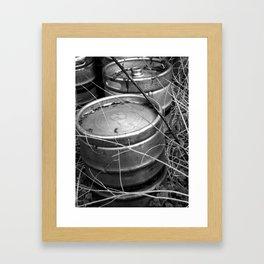 Keg Graveyard Framed Art Print