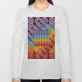 7 CHAKRA SYMBOLS OF HEALING ART #2 Long Sleeve T-shirt