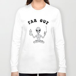 Far Out Alien (Tie Dye) Long Sleeve T-shirt